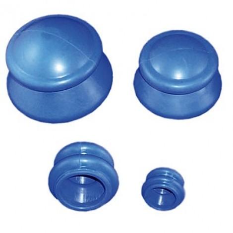 Ventosas de Borracha Azul- 4 Pcs